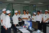 2010年11月8日格力电器朱江洪董长莅临参观