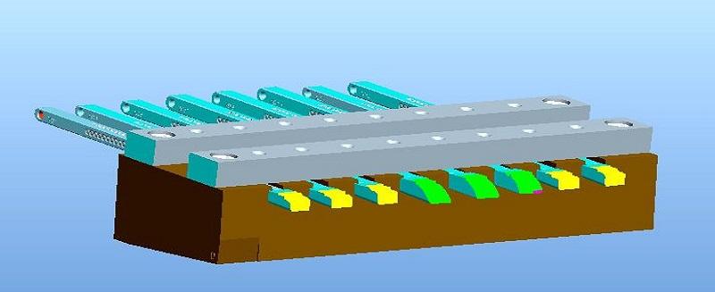 多支薄长斜顶加工工艺方法革新报道