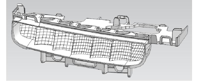 基于Moldflow的车灯反射体的熔接线优化改善