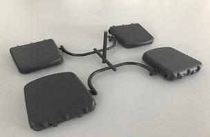 脚靠支撑座--家电注塑模具