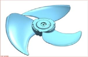 轴流风叶-家电注塑模具