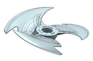 轴流风叶625-家电注塑模具