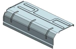 隔板D--家电冲压模具