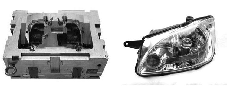 汽车车灯模具设计 格力大金成型结构优化平衡品质与